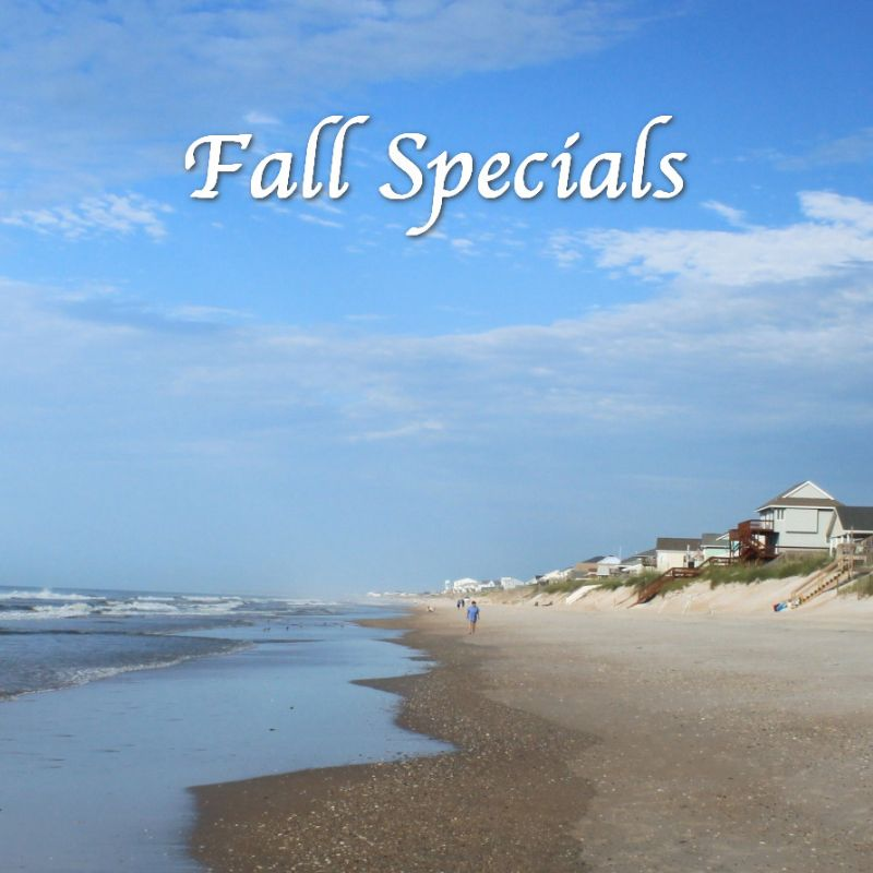 Topsail Rental Rate Discounts for Fall